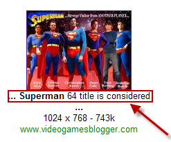 סופרמן בתוצאות החיפוש של גוגל