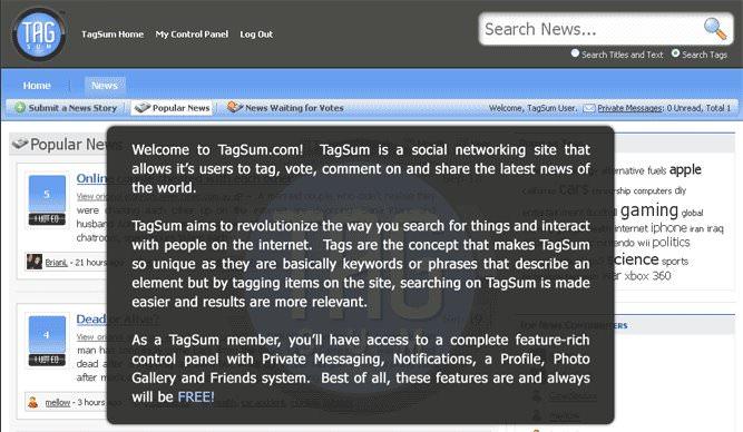 Social Networking - Tagsum