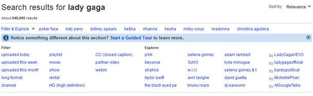פילטרים חדשים בחיפוש ביוטיוב
