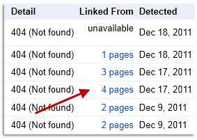 שגיאות 404 בוובמסטר טולס