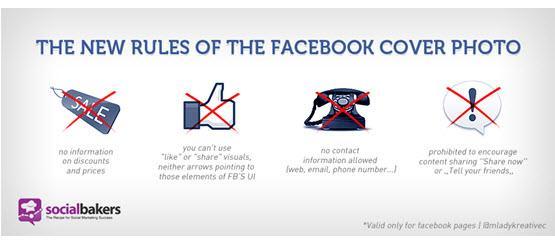 חוקים בתמונת השער של פייסבוק