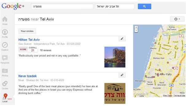 גוגל פלוס מקומות