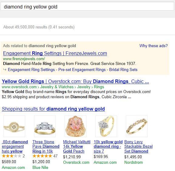 תצוגה מתוך גוגל קניות