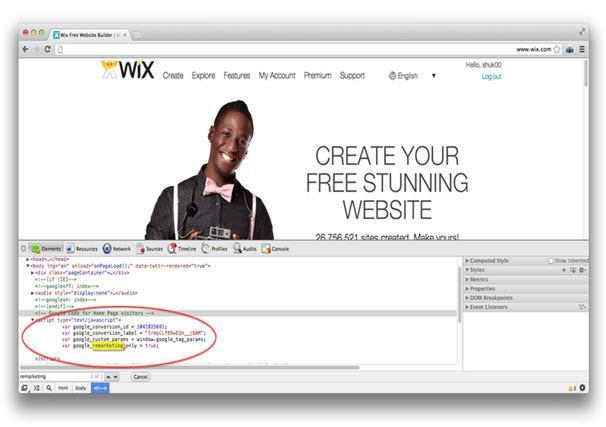 javascript בעמוד הבית של wix