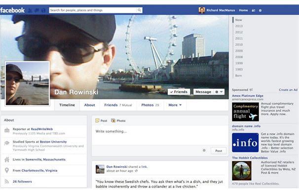 הטיימליין החדש של פייסבוק