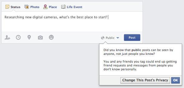 פוסטים פומביים בפייסבוק