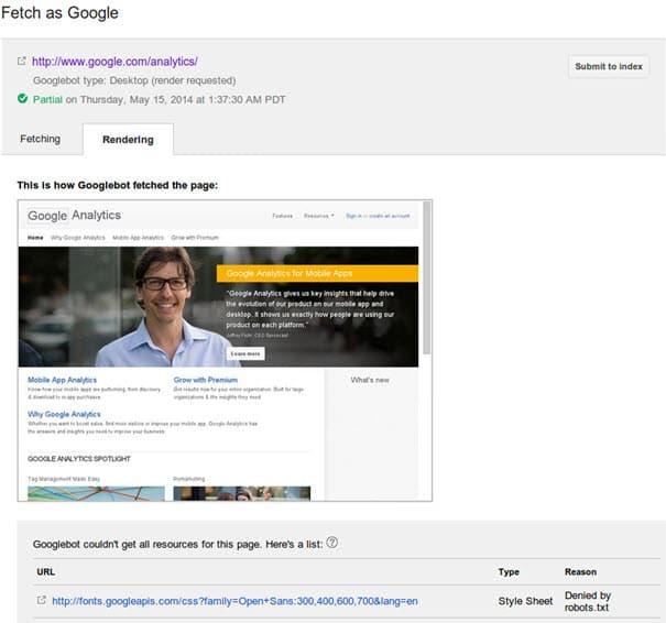 בדיקה איך גוגל רואה את האתר
