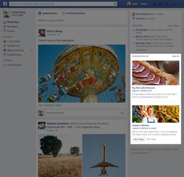 פרסומות גדולות בפייסבוק