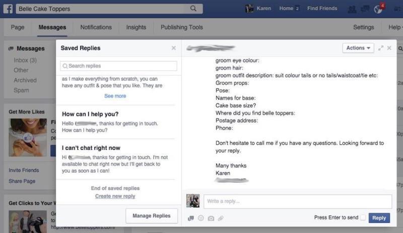 תגובות שמורות בפייסבוק