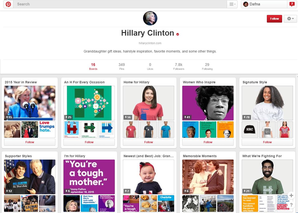 Hillary Pinterest