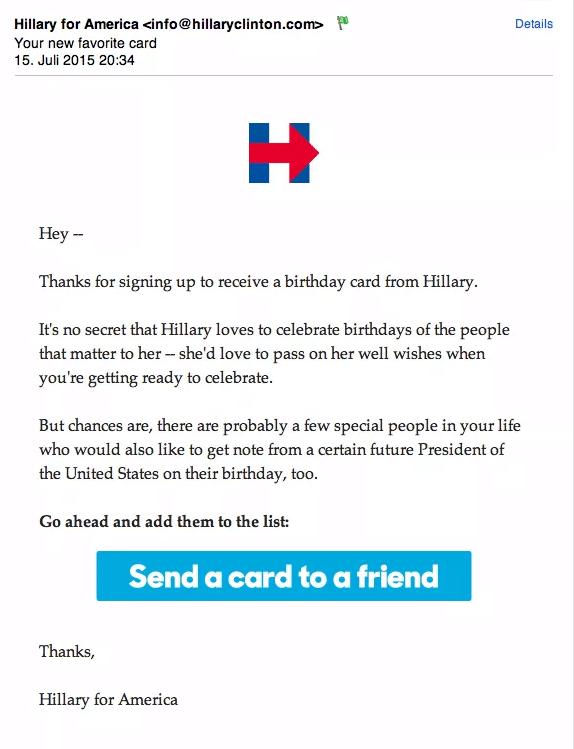 Hillary mail