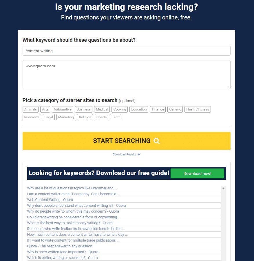 FAQ Fox example search