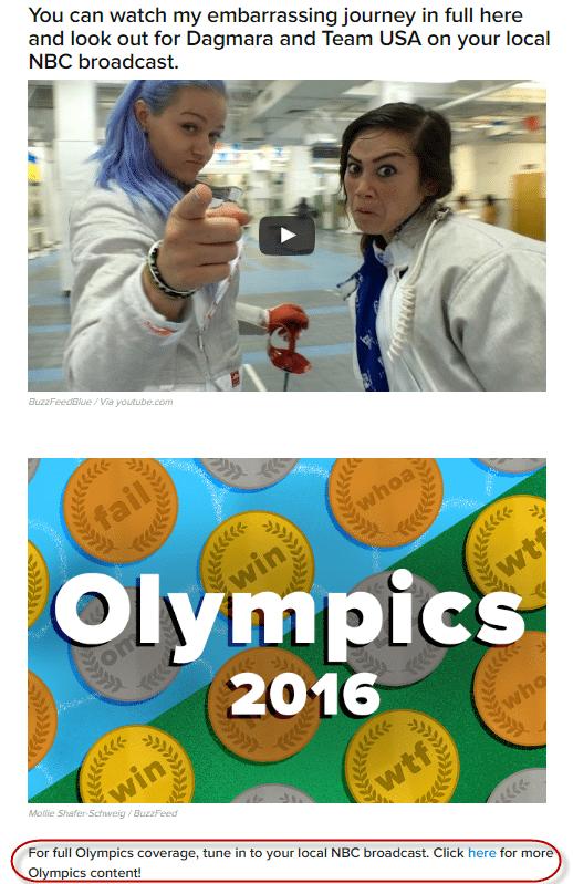 Buzzfeed NBC olympics