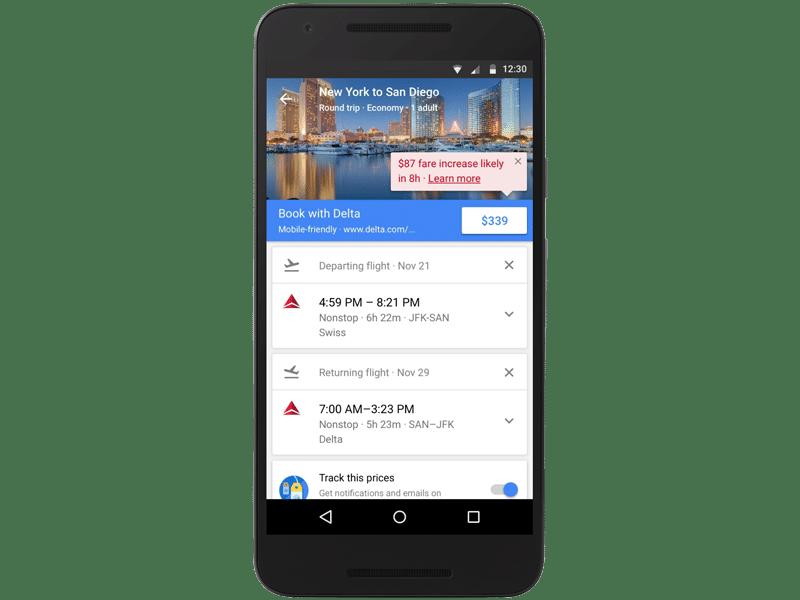 Google Flights Fare Increase Notification