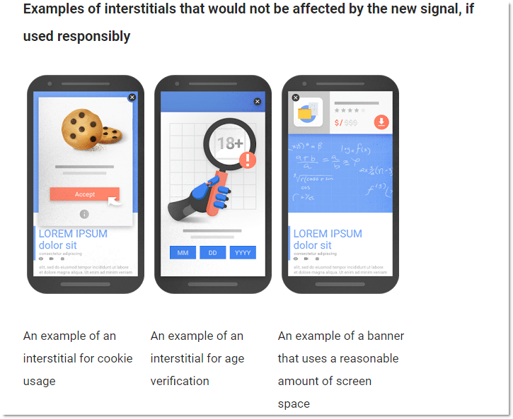 non-intrusive interstitials examples