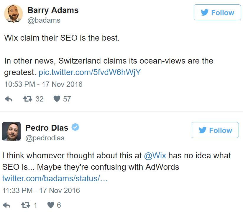 תגובות על WIX בטוויטר