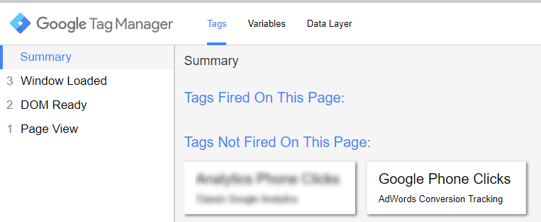Tag Manager Summary