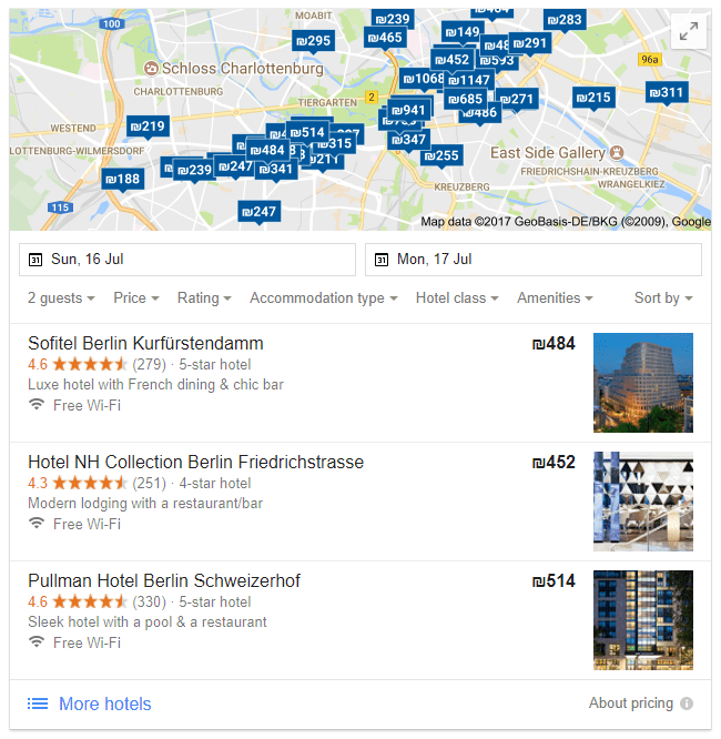Berlin hotels il search