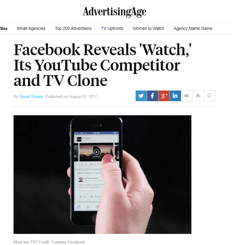 Ad Age Facebook Watch