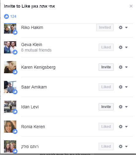 אנשים שעשו לייק לפוסט