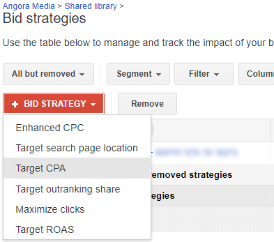 choose bid strategy