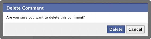 למחוק תגובות בפייסבוק