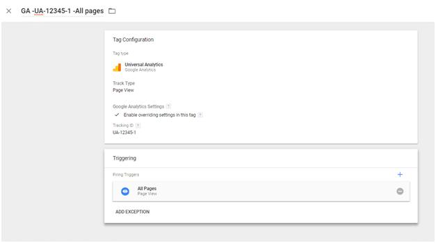 הטמעה דרך כלי של גוגל Tag Manager