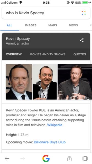 מי זה קווין ספייסי חיפוש קולי