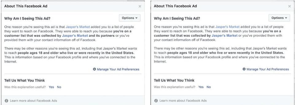 מה המפרסמים בפייסבוק יודעים עלי