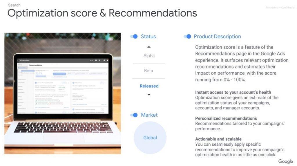 Optimization Score Recommedations