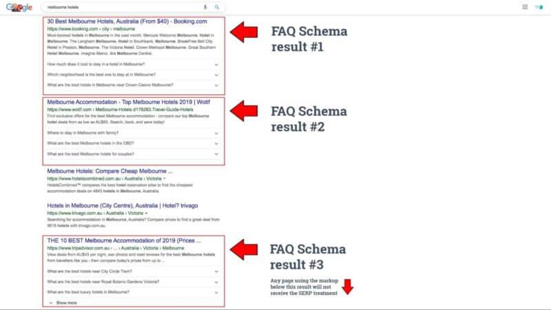 תוצאות FAQ בגוגל