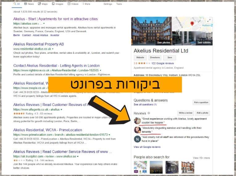 ביקורות גוגל מקבלות עדיפות