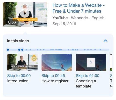 הצגת קטעים מתוך סרטוני יוטיוב - בתוצאות גוגל