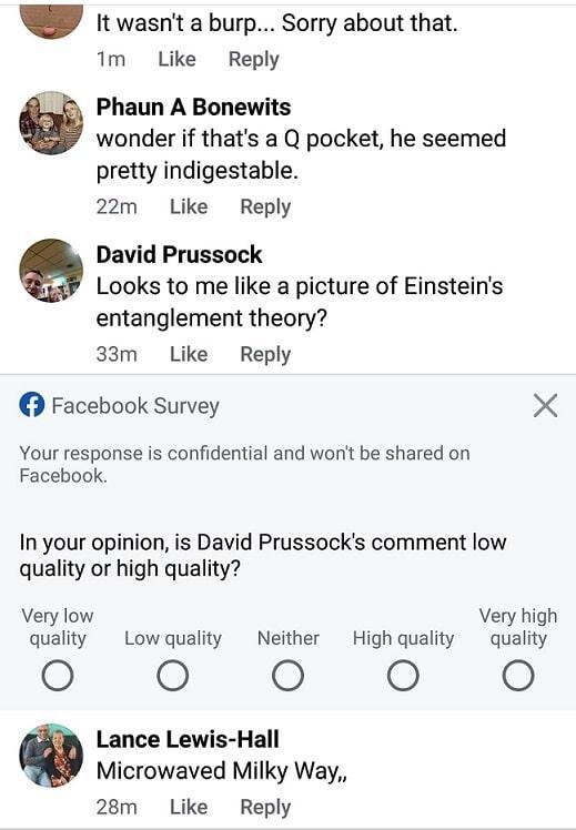 סקר פייסבוק לגבי אמינות משתמשים