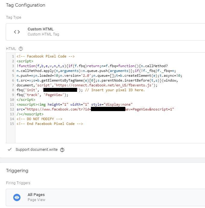הטמעת פייסבוק פיקסל בתג מנג'ר