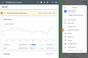 דשבורד המלצות שיפור תוכן בקונסולת החיפוש של גוגל