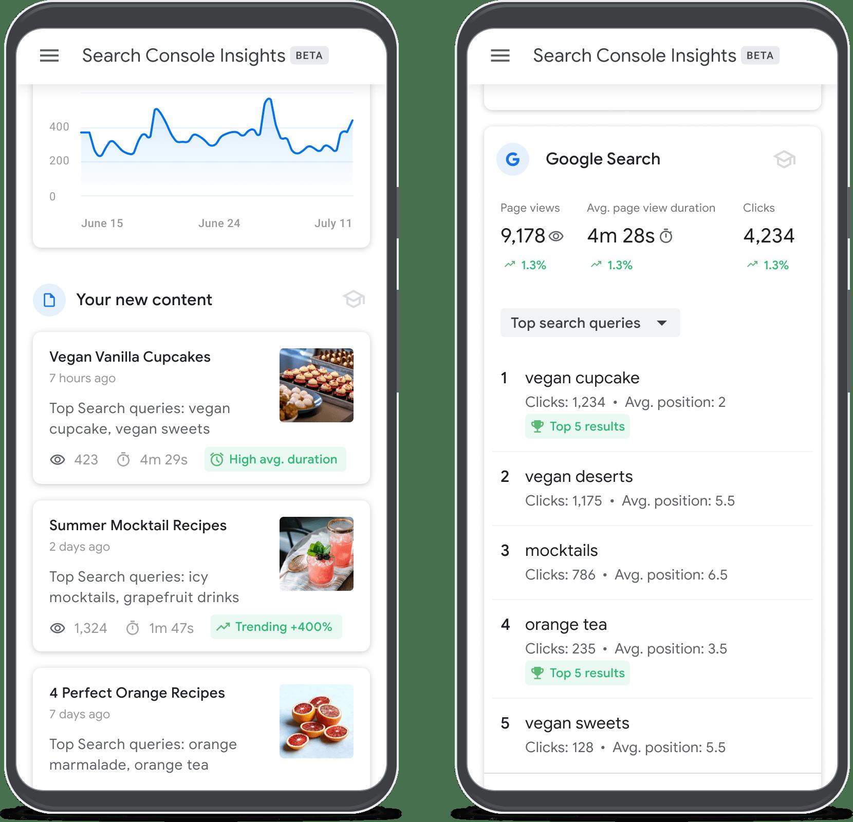 שיפור תוכן בקונסולת החיפוש של גוגל